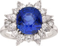 Estate Jewelry:Rings, Sapphire, Diamond, Platinum Ring, McTeigue. ...