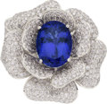 Estate Jewelry:Rings, Tanzanite, Diamond, White Gold Ring, M. Christoff. ...