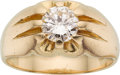 Estate Jewelry:Rings, Gentleman's Diamond, Gold Ring, English. ...