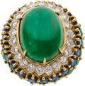 Estate Jewelry:Rings, Emerald, Diamond, Sapphire, Gold Ring. ...