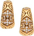Estate Jewelry:Earrings, Diamond, Gold Earrings, Bvlgari. ...