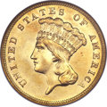 Three Dollar Gold Pieces, 1885 $3 MS64 NGC....