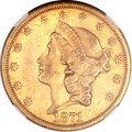 Liberty Double Eagles, 1871-CC $20 AU50 NGC. Variety 1-A....