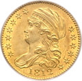 Early Half Eagles, 1812 $5 MS63 PCGS Secure. Wide 5D, Breen-6466, BD-1, R.3....