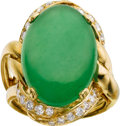 Estate Jewelry:Rings, Jade, Diamond, Gold Ring, Neiman Marcus, France. ...