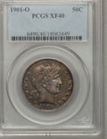 Barber Half Dollars: , 1901-O 50C XF40 PCGS. PCGS Population (9/43). NGC Census: (0/43).Mintage: 1,124,000. Numismedia Wsl. Price for problem fre...
