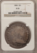 Early Dollars, 1800 $1 10 Arrows Fine 15 NGC. B-15, BB-195, R.4....