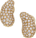 Estate Jewelry:Earrings, Diamond, Gold Earrings, Elsa Peretti for Tiffany & Co.. ...