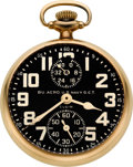 Timepieces:Pocket (post 1900), Elgin Rare BU. Aero U.S. Navy G.C.T. 23 Jewel Wind Indicator, circa1933. ...