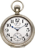 Timepieces:Pocket (post 1900), Waltham 21 Jewel 18 Size Model 92 Vanguard With Wind Indicator,circa 1908. ...