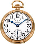 Timepieces:Pocket (post 1900), Waltham 21 Jewel 16 Size Crescent St. Up/Down Indicator, circa1919. ...