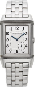 Timepieces:Wristwatch, Jaeger LeCoultre Grand Reverso Eight Day Ref. 240.8.14. ...