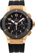 Timepieces:Wristwatch, Hublot Big Bang Ref. 301.M, 18k Rose Gold, Titanium & CeramicAutomatic Chronograph. ...