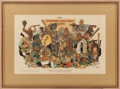 "Baseball Collectibles:Others, 1909 ""Fanciful Fantasy of a Fan"" Judge Company Baseball Premium...."