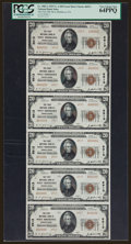 National Bank Notes:Pennsylvania, West Middlesex, PA - $20 1929 Ty. 2 The First NB Ch. # 6913 UncutSheet. ...