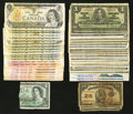 Canadian Currency: , Canadian Group Lot.. ... (Total: 46 notes)