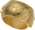 Luxury Accessories:Accessories, Yves Saint Laurent Runway Repousse Bangle. ...