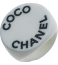 Luxury Accessories:Accessories, Chanel 2007 Spring Lucite Logo Ring. ...