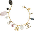 Luxury Accessories:Accessories, Chanel 2001 Fall Rare Feminine Gripoix Charm Bracelet. ...