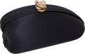 "Luxury Accessories:Bags, Kieselstein-Cord Black Satin Evening Clutch Bag, 6.5"" x 3"" x 2"",Excellent Condition. ..."