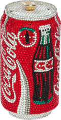 "Luxury Accessories:Bags, Kathrine Baumann #69/2500 Full Bead Red Coca-Cola Can Minaudiere,2.5"" x 5"" x 2.5"", Pristine Condition . ..."