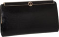 "Luxury Accessories:Bags, Gucci 1960's Black Lizard Classic Frame Clutch, 8"" x 4.5"" x 1.5"",Excellent Condition. ..."