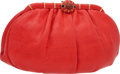 "Luxury Accessories:Bags, Judith Leiber Red Lizard Vintage Clutch with Cabochon Clasp, 10"" x6"" x 4"", Excellent Condition. ..."