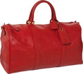"Luxury Accessories:Travel/Trunks, Chanel Rare Red Caviar Leather Vintage Weekender Bag, 20"" x 11"" x8"", Excellent Condition. ..."