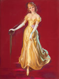 Pin-up and Glamour Art, JULES ERBIT (American, 1889-1968). Lady in a Gold Dress.Pastel on board. 40.5 x 29.5 in.. Not signed. ...