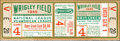 Baseball Collectibles:Tickets, 1945 World Series Game 4 Chicago Cubs vs. Detroit Tigers FullTicket....