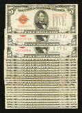 Small Size:Legal Tender Notes, Fr. 1530 $5 1928E Legal Tender Notes. Twenty-three Examples. Very Good.. ... (Total: 23 notes)