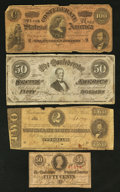 Confederate Notes:1863 Issues, 1863-1864 CSA Notes Good or Better.. ... (Total: 4 notes)