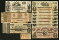 Confederate Notes:Group Lots, Mixed Lot of Confederate Notes and an Obsolete. Fourteen Examples..... (Total: 14 notes)