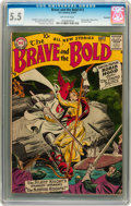 Silver Age (1956-1969):Adventure, The Brave and the Bold #13 Savannah pedigree (DC, 1957) CGC FN- 5.5 Off-white pages....