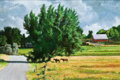Paintings, DARYL POULIN (American, b. 1947). A Day at the Ranch, 2011*. Oil on canvas. 24 x 36 inches (61.0 x 91.4 cm). Signed lowe...