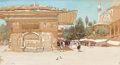 American:Academic, FROM THE FLANNER & BUCHANAN CORPORATE COLLECTION. FRANCISHOPKINSON SMITH (American, 1838-1915). Middle Eastern SceneOu...