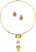 Estate Jewelry:Suites, Citrine, Diamond, Sapphire, Gold Jewelry Suite, H. Stern. ...
