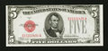 Error Notes:Miscellaneous Errors, Fr. 1527 $5 1928B Legal Tender Note. Choice About Uncirculated.. ...