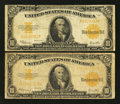 Large Size:Gold Certificates, Fr. 1173 $10 1922 Gold Certificates Two Examples Very Good or Better.. ... (Total: 2 notes)