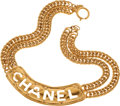Luxury Accessories:Accessories, Chanel 1985 Quilted Cutout ID Necklace. ...