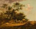 Fine Art - Painting, European:Antique  (Pre 1900), Attributed to JOHN CROME (British, 1768-1821). The Haywagon.Oil on beveled oak panel. 18 x 22 inches (45.7 x 55.9 cm). ...