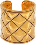 Luxury Accessories:Accessories, Chanel 1982 Classic Quilted Large Scale Cuff Bracelet. ...