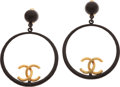 Luxury Accessories:Accessories, Chanel 1993 Resort Collection Enameled Hoop Runway Earrings. ...(Total: 2 Items)