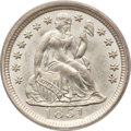 Seated Dimes, 1851 10C MS64 PCGS. CAC....