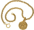 Luxury Accessories:Accessories, Chanel 1993 Etruscan Double-sided Mirror Pendant Runway Necklace....
