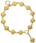 Luxury Accessories:Accessories, Chanel 1985 Double Strand Quilted Charm Bracelet. ...