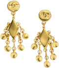 Luxury Accessories:Accessories, Chanel 1994 Multi-charm Dangling Chandelier Earrings. ... (Total: 2Items)