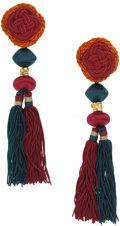 Luxury Accessories:Accessories, Yves Saint Laurent 1970's Rive Gauche African Collection Tassel Earrings. ... (Total: 2 Items)