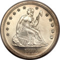 Proof Seated Quarters, 1865 25C PR65 Cameo PCGS. CAC....