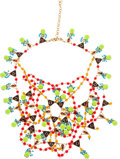 Luxury Accessories:Accessories, Dior Spectacular Red, Green, & Blue Gripoix Runway Necklace....